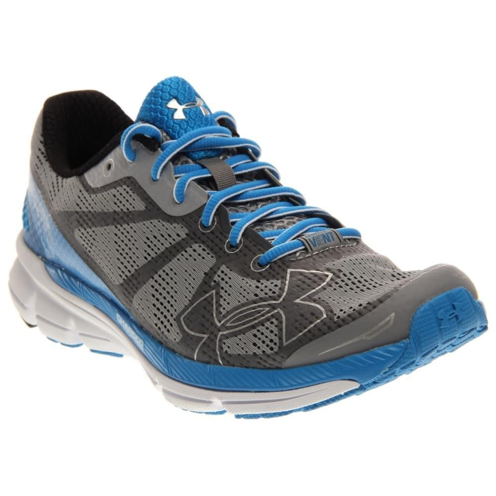 UNDER ARMOUR Charged Bandit Zapatilla de Running Caballero 49.5 EU|Steel/Black/Blue Jet