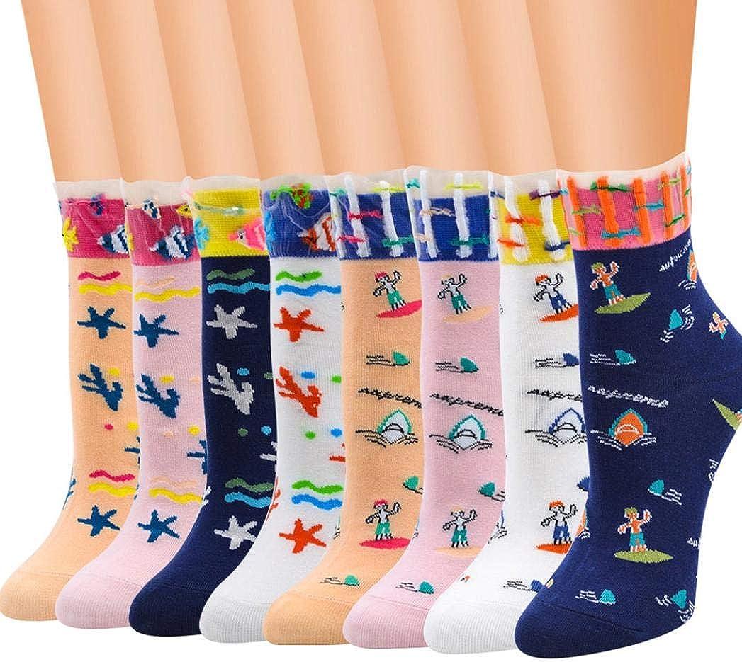 """K.Bell ~ Christmas Owl Wearing Reindeer Hat Ladies /"""" FOOTIES /"""" Socks NWT"""