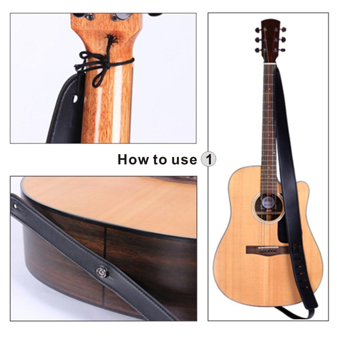 nero Basso classico Tracolla per chitarra Tracolla per chitarra elettrica per chitarra elettrica // acustica // basso