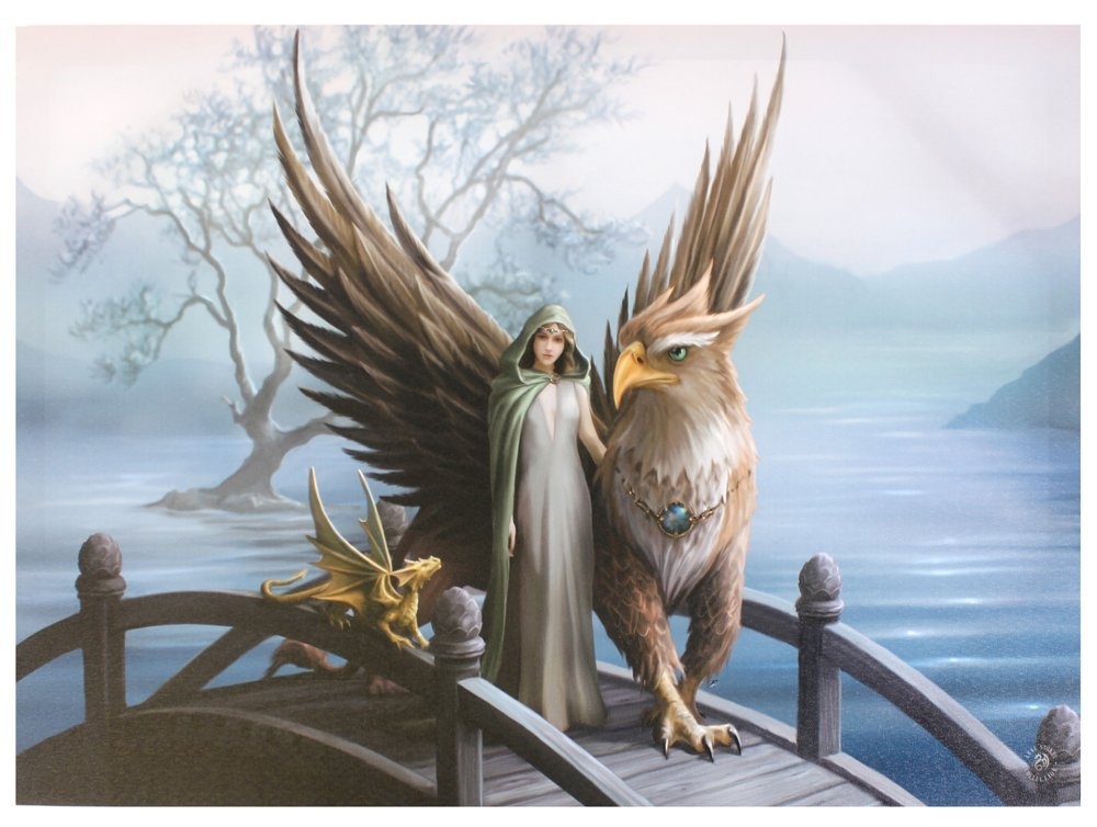 ANNE STOKES Realm Of Tranquillity Wall Art, Multi-Colour, 50 x 70 cm Something Different Wholesale WP_03335