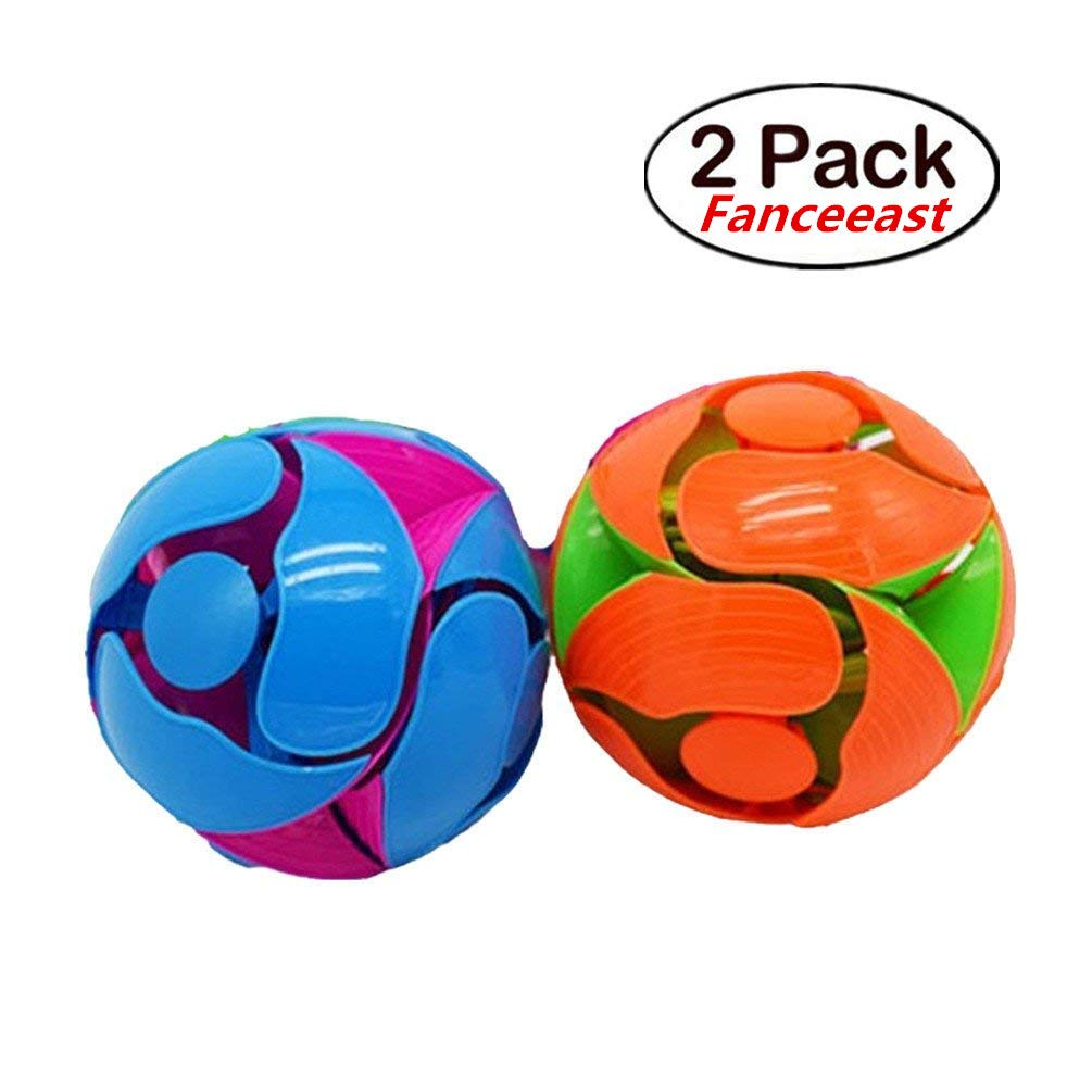 2 Pack Switch Pitch Ball - Fanceeast 4 Inch Flipping Color Throwing Ball - Assorted Color (2 PCS) Fanceeast 2008