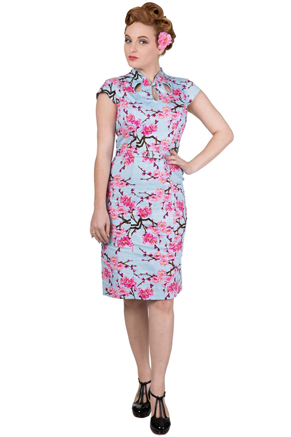 Retro Tiki, Tropical, Hawaiian Style Dresses Banned Last Dance Pencil Rockabilly Dress $51.29 AT vintagedancer.com
