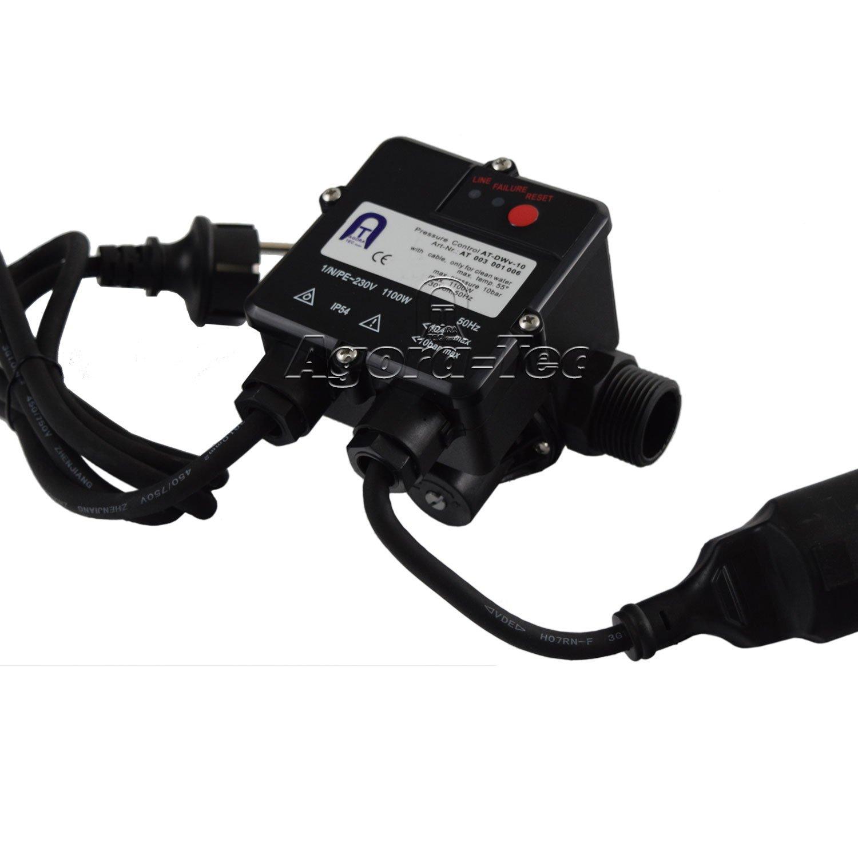 Agora-Tec Pumpen Druckschalter AT-DWv-10 verkabelt zur ...