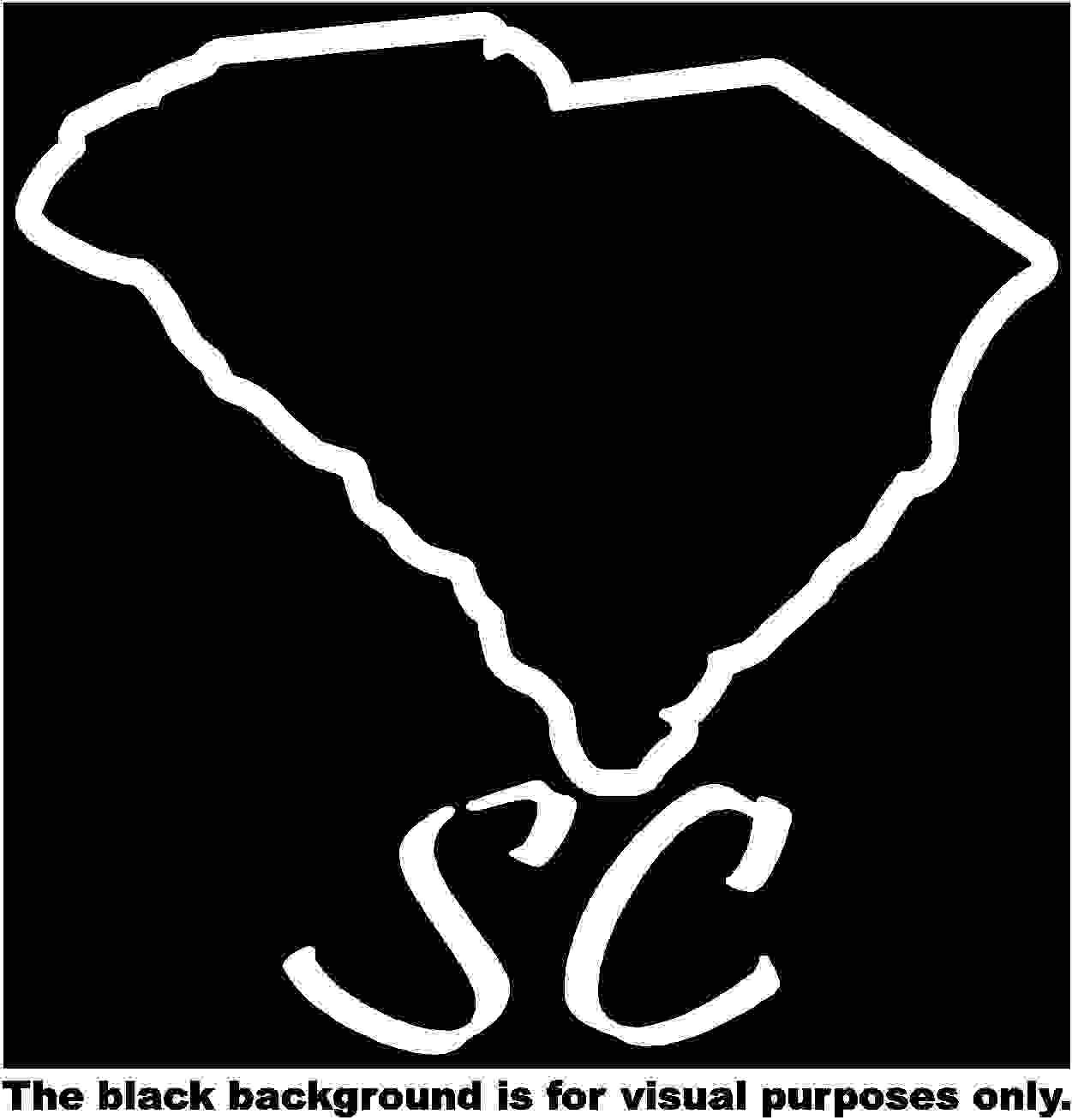 States South Carolina Decal Sticker Vinyl Car Window Tumblers Wall Laptops Cellphones Phones Tablets Ipads Helmets Motorcycles Computer Towers V and T Gifts