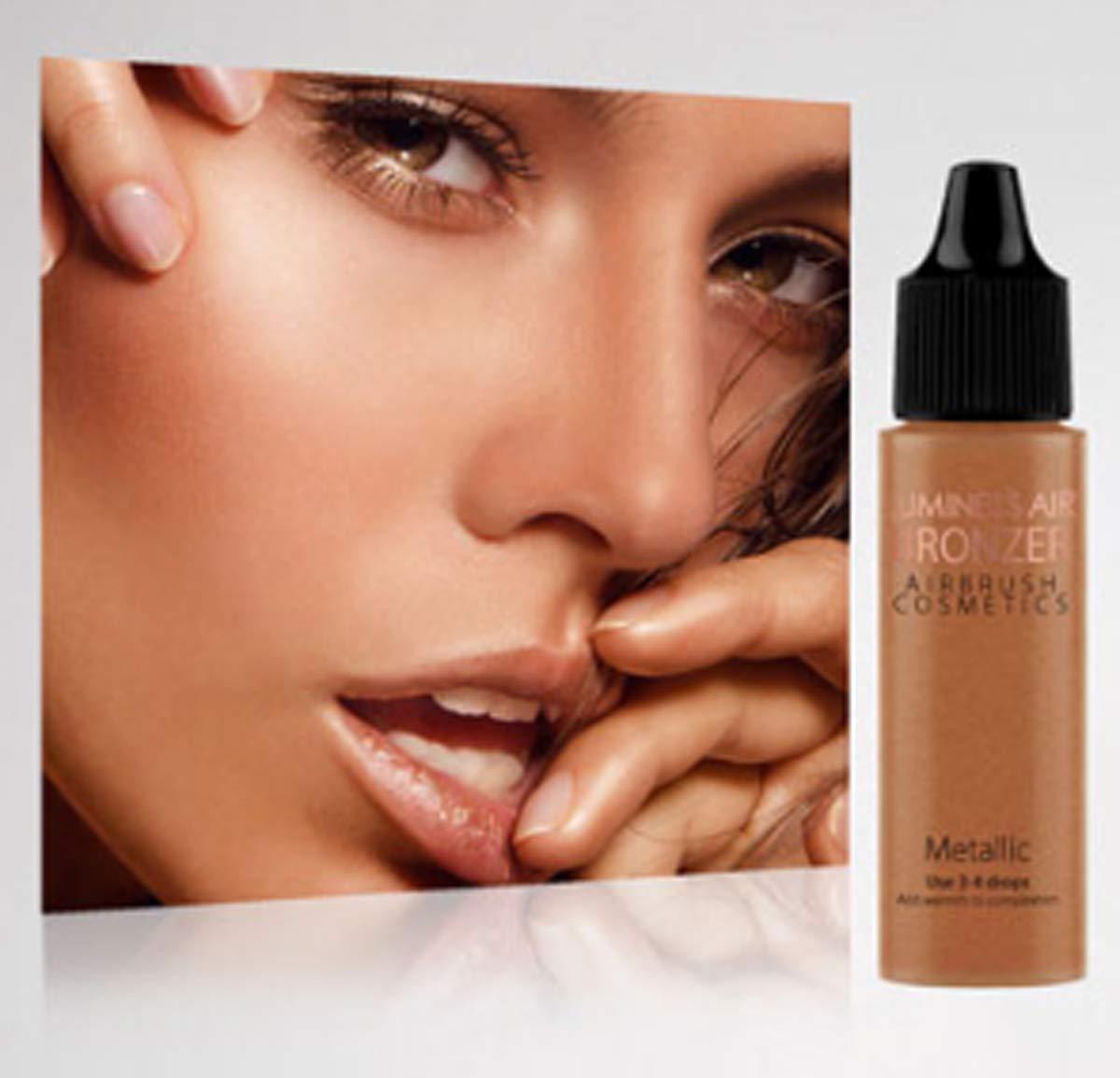 Luminess Airbrush Cosmetics Metallic Shimmer Bronzer ~Sun-Kissed Glow