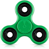 Toplay Fidget Spinner Toy Stress Reducer Ceramic Bearing - Perfect For ADD, ADHD, Anxiety, and Autism Adult Children (Green)