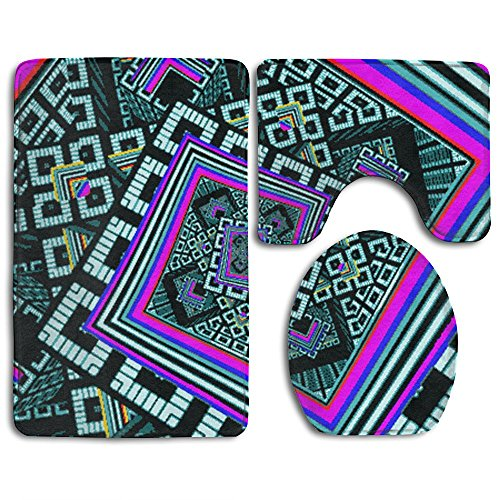 HOMESTORES Perfect Gifts - Kaleidoscope Trippy Acid Thicken Skidproof Toilet Seat U Shaped Cover Bath Mat Lid Cover