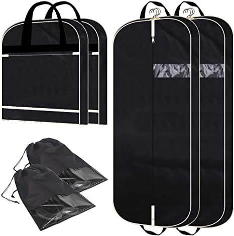 Amazon.com: Paquete de 2 bolsas para ropa de 53.9 in.: Kimiandy