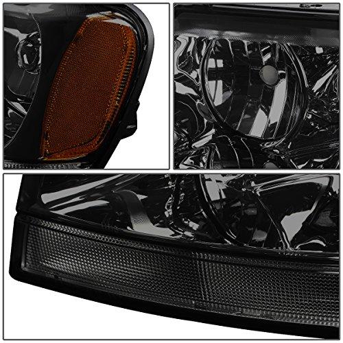 Jeep Grand Cherokee Headlight Lamps With Amber Reflector Kit (Smoke Lens) - WJ