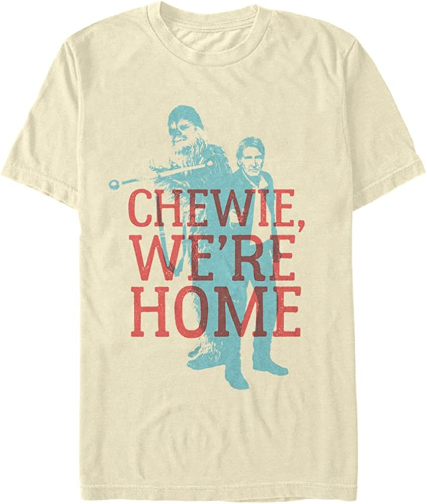 Men's Star Wars The Force Awakens Han Solo Chewie We're Home T-Shirt