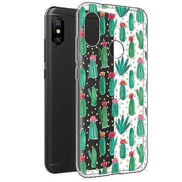 Eouine Funda Xiaomi Mi A2 Lite, Cárcasa Silicona 3D Transparente con Dibujos Diseño Suave Gel TPU [Antigolpes] de Protector Bumper Case Cover para ...
