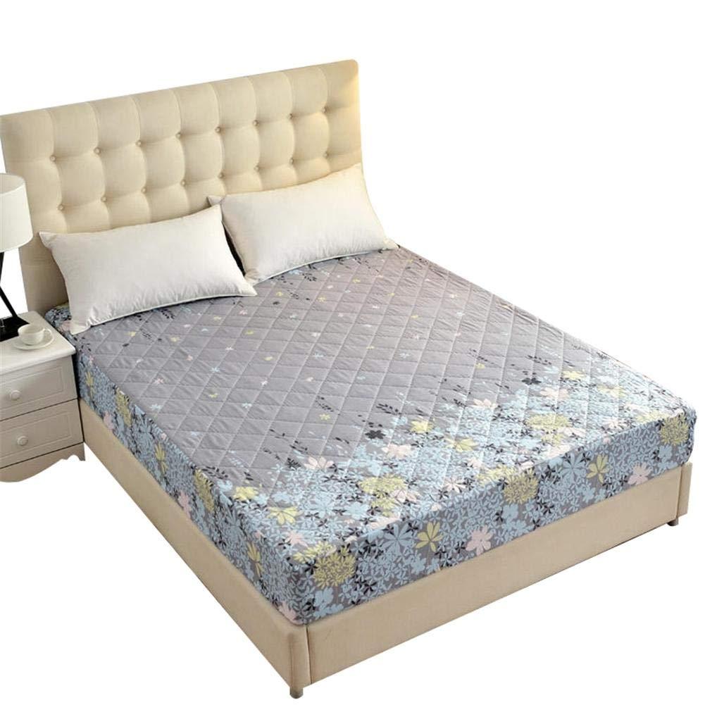 Decoración del hogar Ropa de cama 150 * 200 cm Poliéster + TPU Imprimir Colchón Cubierta protectora Cálido y cómodo Impermeable e higroscópico Su-luoyu: ...