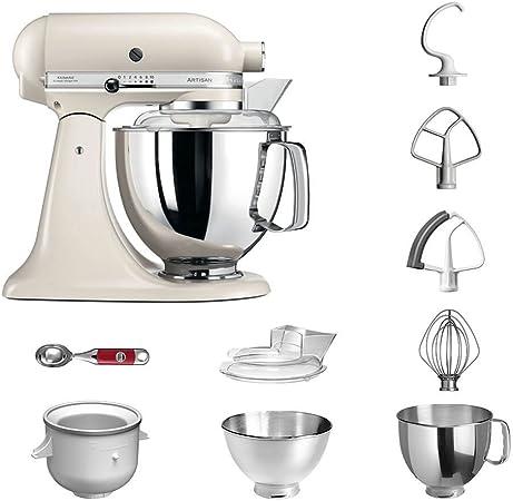 Robot de cocina, de KitchenAid, juego Artisan 5KSM175PS, incluye heladera y cuchara para helado para postres caseros Baiser: Amazon.es: Hogar