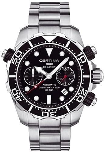 Certina DS Acción de Buzo Cronógrafo Automático Negro Dial Acero inoxidable reloj para hombre c013.427.11.051.00: Amazon.es: Relojes
