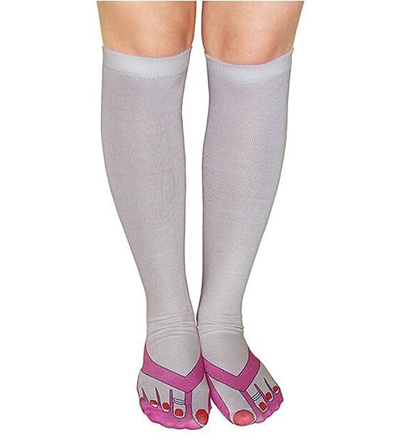 Medias Calcetines Mujer Especial Calcetines de Compresion con impresion sirena: Amazon.es: Ropa y accesorios