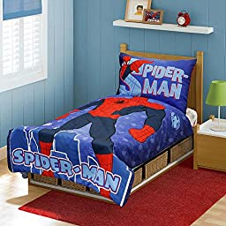 5 Pieces Marvel Spiderman I am Spiderman Toddler Bed Set and towel