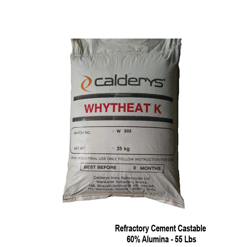 60% Alumina Hydraulic Bonding Refractory Cement Dense Castable 55 Lbs