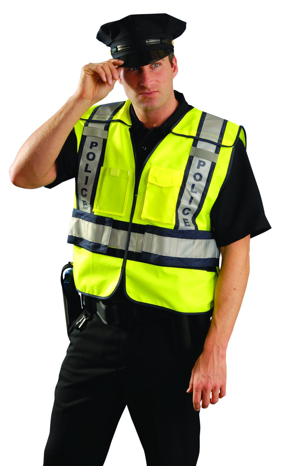 OccuNomix LUX-PSP-YM/L Public Safety Police Vest, Medium/Large, Yellow/Navy by OccuNomix (Image #3)