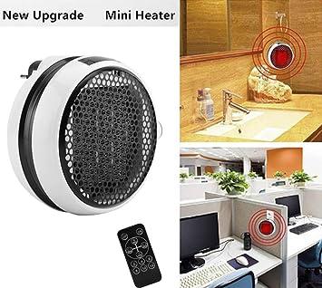 Mini Estufa Eléctrica Calefactor Cerámico de Aire Caliente de Ventilador Portátil Pared con Salida de Pared y Pantalla Digital con Temporizador Ajustable ...