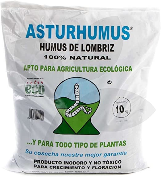 Humus de Lombriz Asturhumus 100% Ecológico - 10 kg: Amazon.es: Jardín