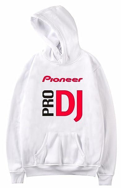 SERAPHY Unisex Felpa con Cappuccio PRO DJ Pioneer Primavera Felpa con Cappuccio Casual per UomoDonna