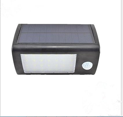 amzdeal – 28 LED Solar apliques exterior resistente al agua con detector de movimiento 560 lúmenes
