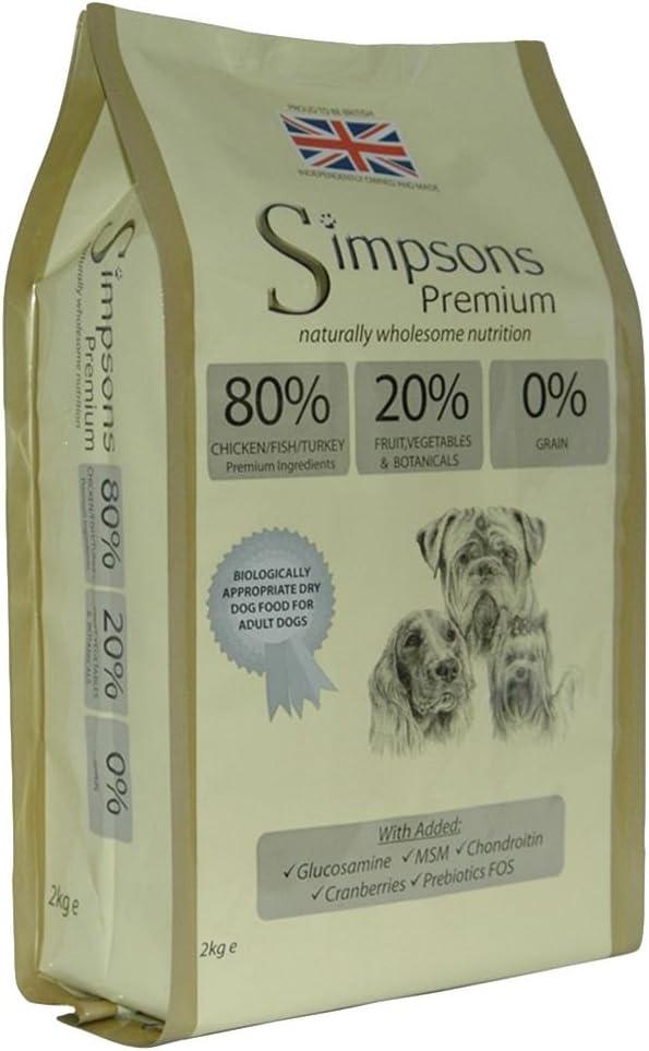 Simpsons Premium 80/20 - Pienso para perros, mezcla seca de pollo, pavo y pescado