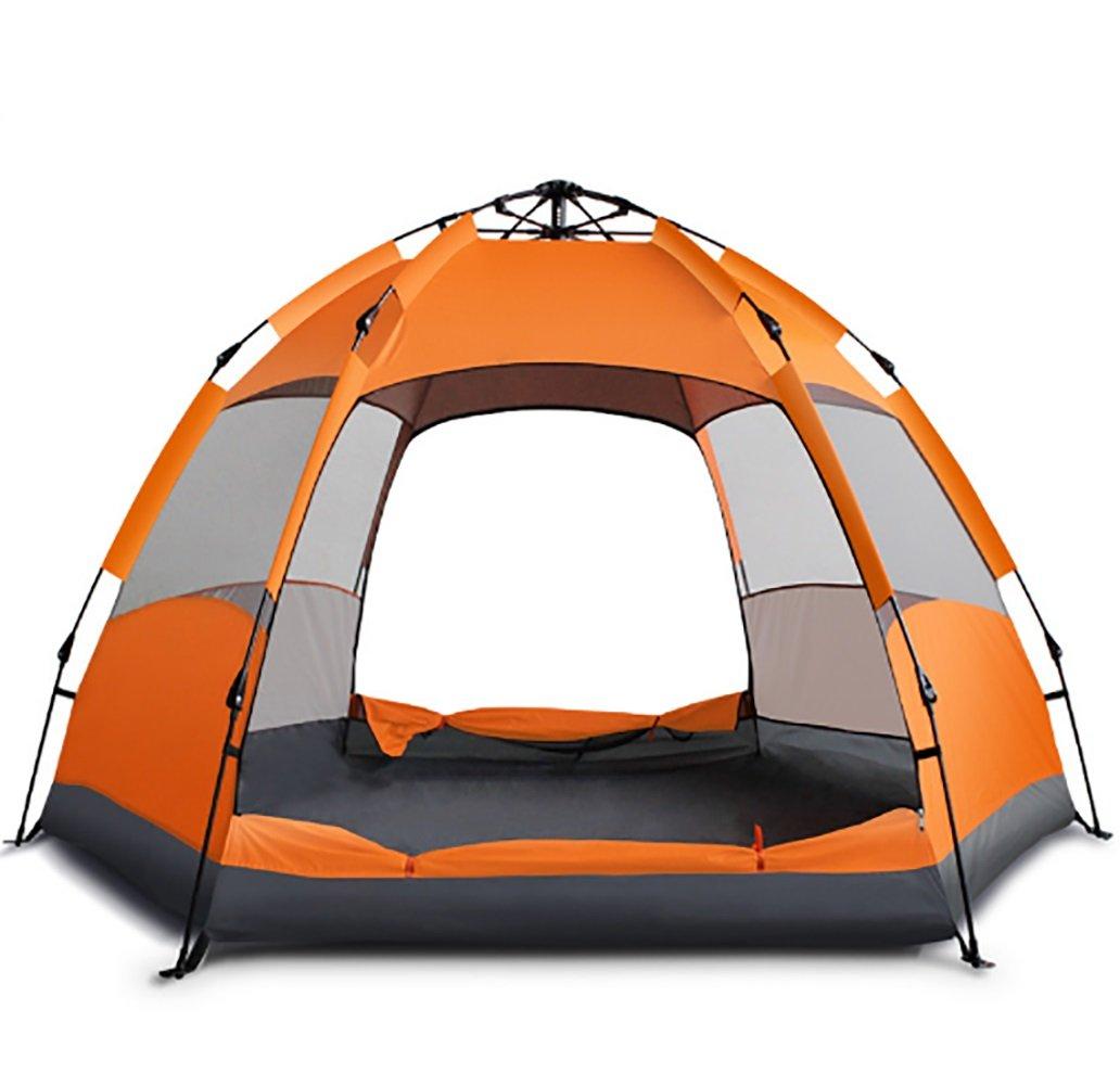 KOKR Automatisches Doppeltes Regendichtes Sonnenschutzes des Zelt-CampFeuer Campingzelt für 3-5Personen
