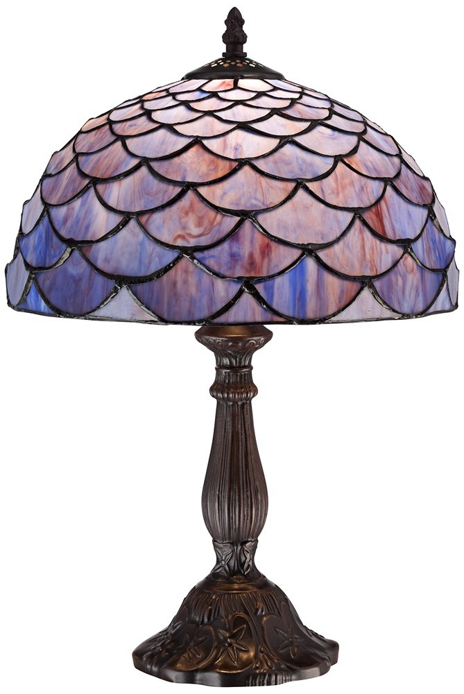 Blue Shell Tiffany Style 18'' High Accent Table Lamp