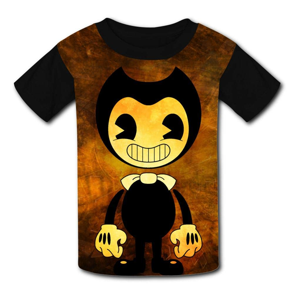VOPSKJ14 Bendy-Machine Youth Unisex Kids 3D Short Sleeve Tees T-Shirts