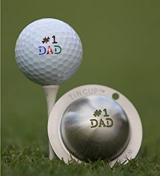 Tin Cup Unisex S Number 1 Dad Golf Ball Marker Steel One