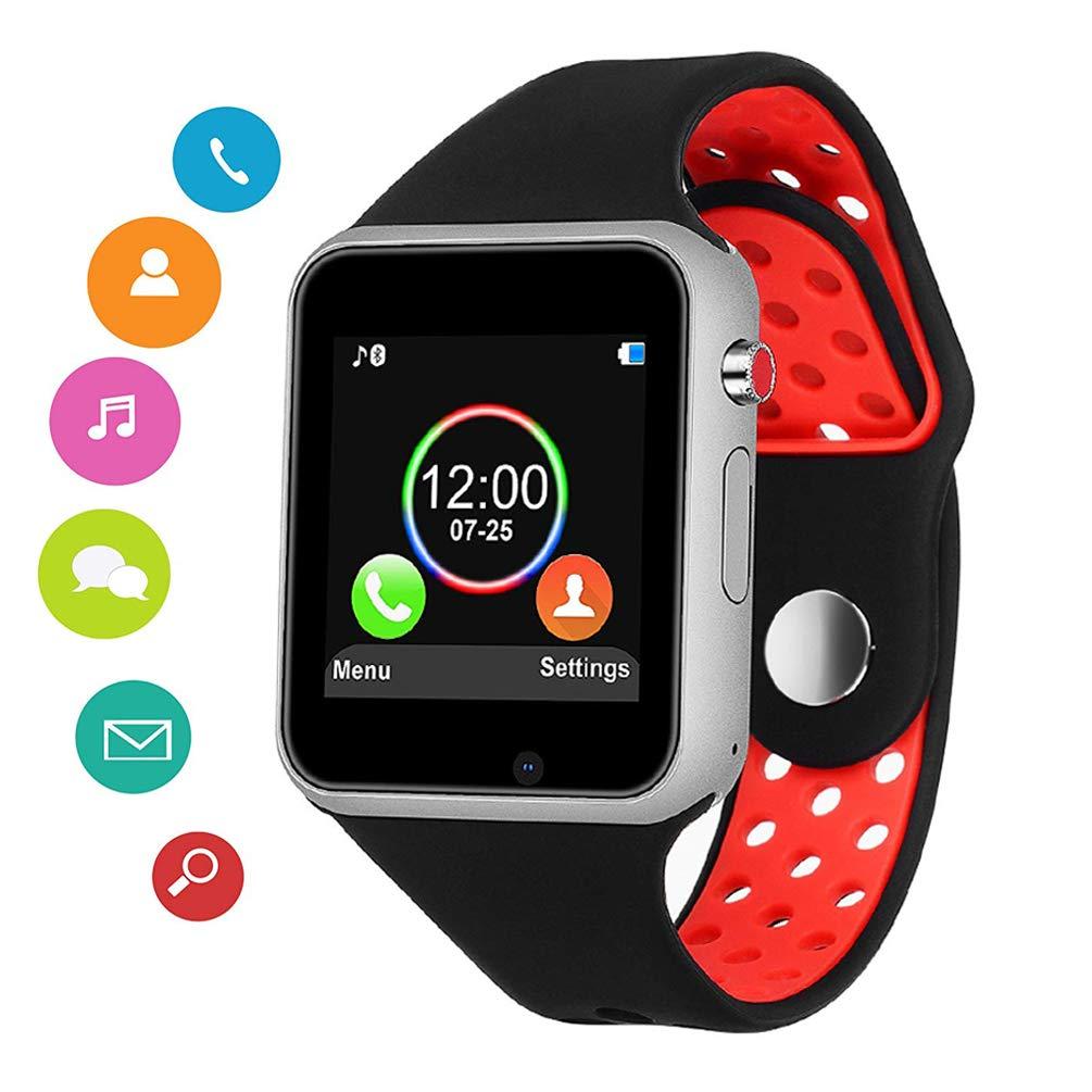 Smart Watch,SUNETLINK Touch Screen Bluetooth Smart Watch,Sport Smart  Fitness Tracker Wrist Watch with Camera,Sweatproof Smart Watch with SIM TF  Card