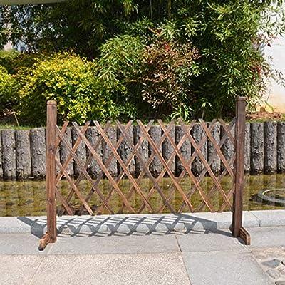 Robasiom Lovinn - Valla de Madera para jardín, decoración de Madera, Puerta de jardín, Patio, jardín: Amazon.es: Jardín