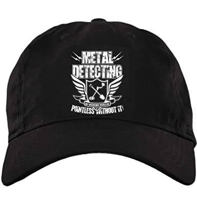 COLOSTORE Metal Detector Work Hat, Metal Detecting Twill Dad Cap (Twill Unstructured Dad Cap - Black) at Amazon Mens Clothing store: