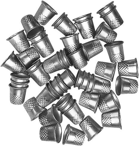 1 Pcs LGEGE Antique Bronze Toned Vintage DIY Crafts Metal Sewing Thimble Finger Thimble Protector Shield Helmet Shape Thimble Protector Size S