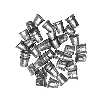 Lemimo Silver Metal Quilting Thimble