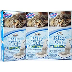 Kitty Cat Alfa Pet Pan Liners, 10 Count, Pack of 3 81