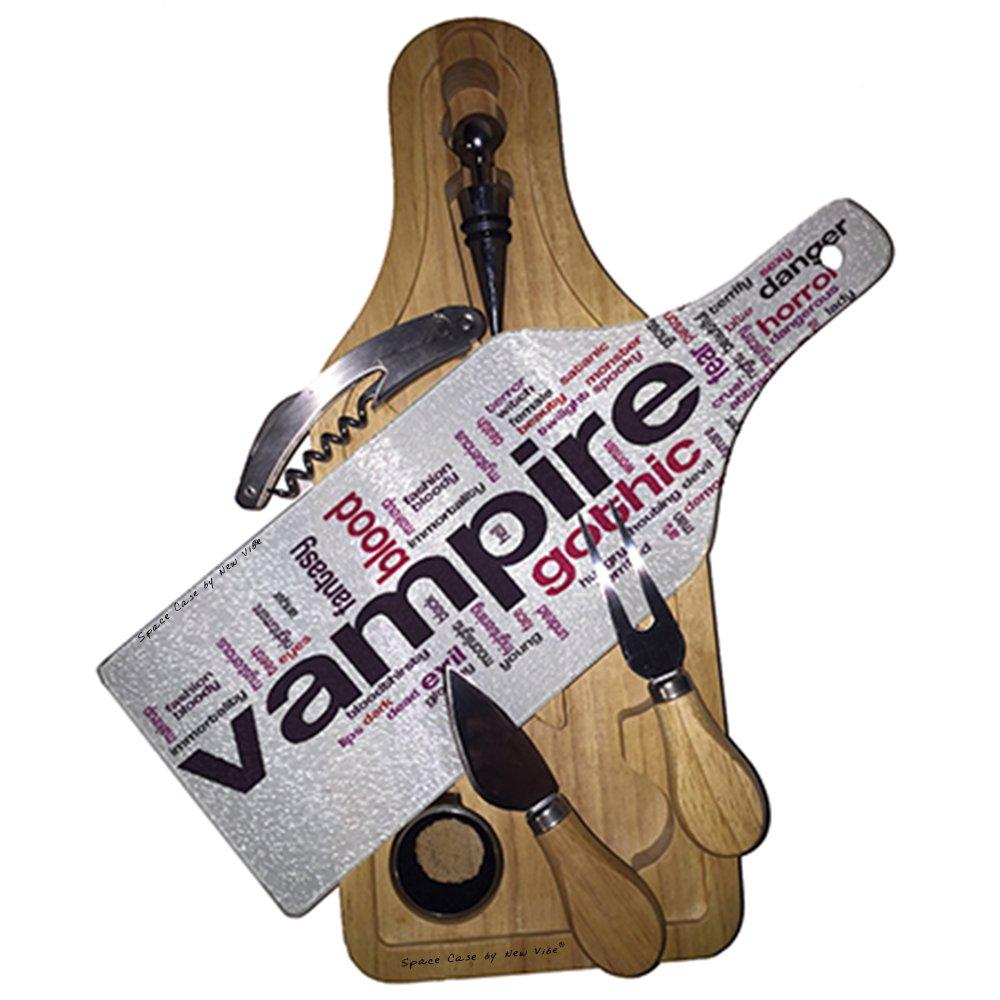 Vampiro gótico sangre vino y Queso de cristal tabla de ...