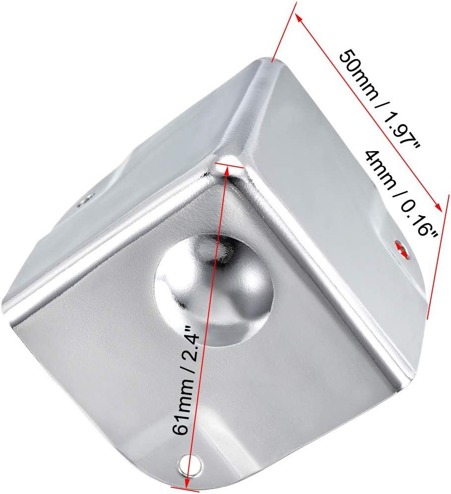 sourcing map Metallbox Eckenschutz Box Kantenschutz Schutz Silber Ton 50 x 50 x 50 mm 8 St/ück # 2