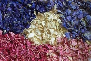 Delphinium petal confetis Premium calidad 1litro–blues marfiles y mix