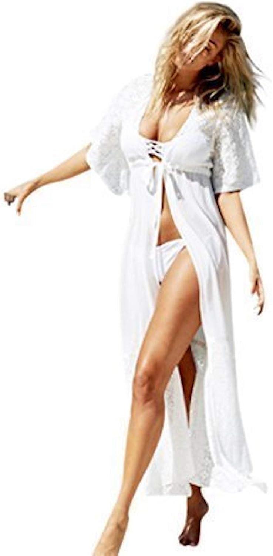 Live It Style It Kimono da donna in chiffon copricostume  con laccetto capo da spiaggia camicia cardigan top