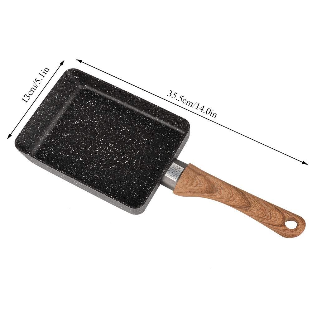 utensilios de cocina Sart/én antiadherente espesada 14.0 * 5.1 pulgadas olla de tortilla de aluminio accesorios de cocina