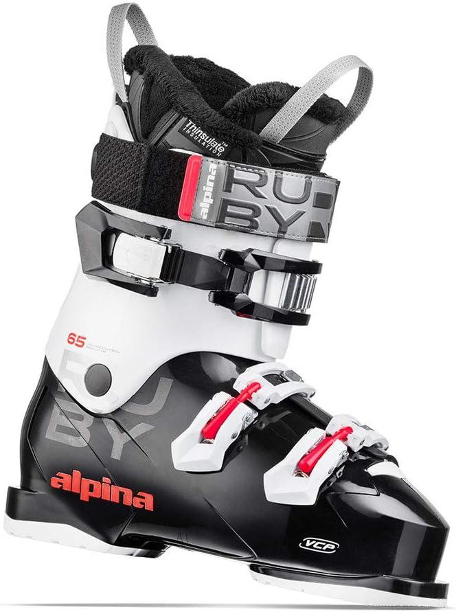 Alpina Ruby 65 Womens Black//White Ski Boots 24.5