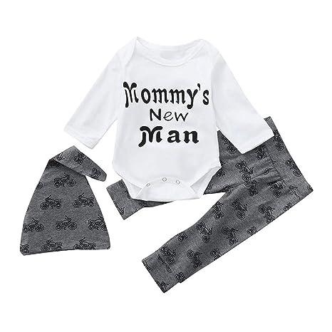 Chandal Bebe Niño,Abrigo Bebe Niña,Recién Nacido Infantil Bebé Carta Romper Tops Pantalones