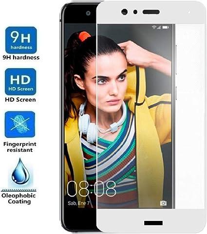 REY Protector de Pantalla Curvo para Huawei P10 Lite, Blanco ...