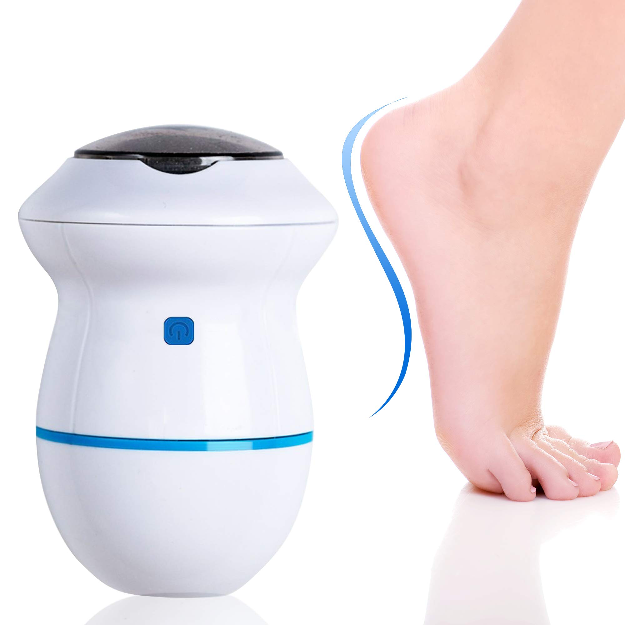 Portable Electric Foot Grinder - USB Electronic Foot File Pedicure Tools, Dual-Speed Càllus Remover - Feet Care Perfect for Dead,Hard Cracked Dry Skin(Blue)