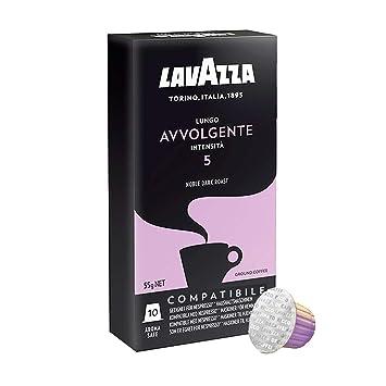 Lavazza Espresso Capsules Compatible With Nespresso - Lungo Avvolgente Flavor - Choose Quantity (2 Pack