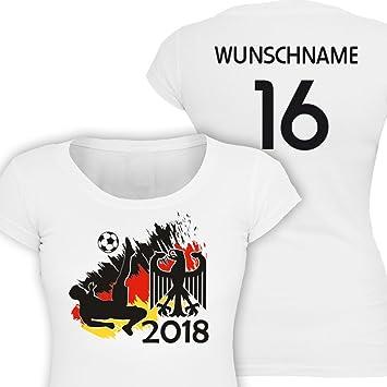Primestick Alemania Girl-Camiseta de fútbol WM 2018 Nombre y número Personalizados, XX-