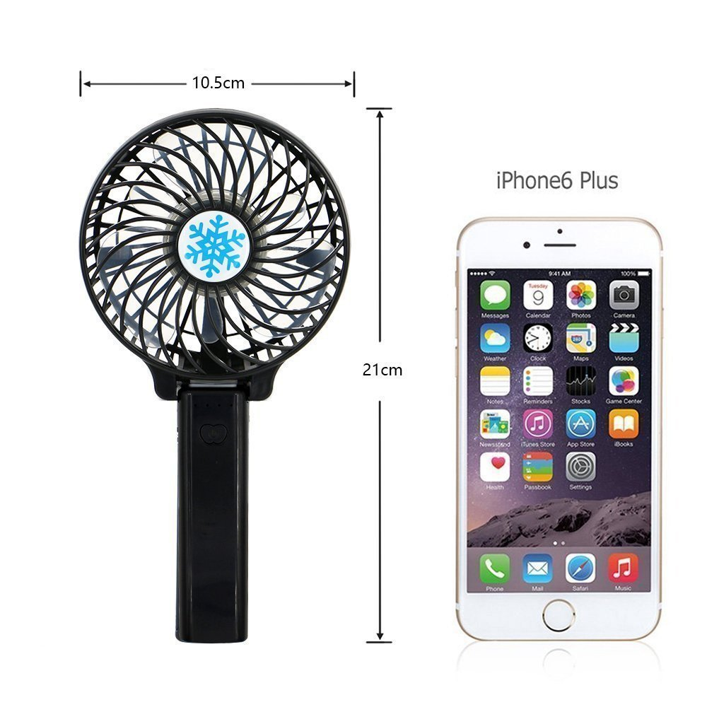 Mini Portable Fan with LED Light,Collapsible Personal Fan USB Rechargeable Battery,18650 Lithium Rechargeable Battery,Lightweight Handheld Cooling Fan,Adapt to Outdoor sports,shopping,travel,office by YONGYUAN (Image #2)