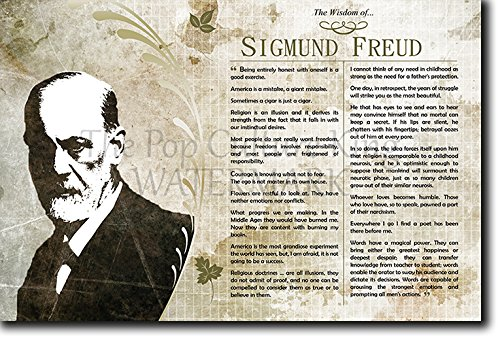 The Wisdom of Sigmund Freud Poster with inspiring motivational, thought-provoking quotes Photo Art Print